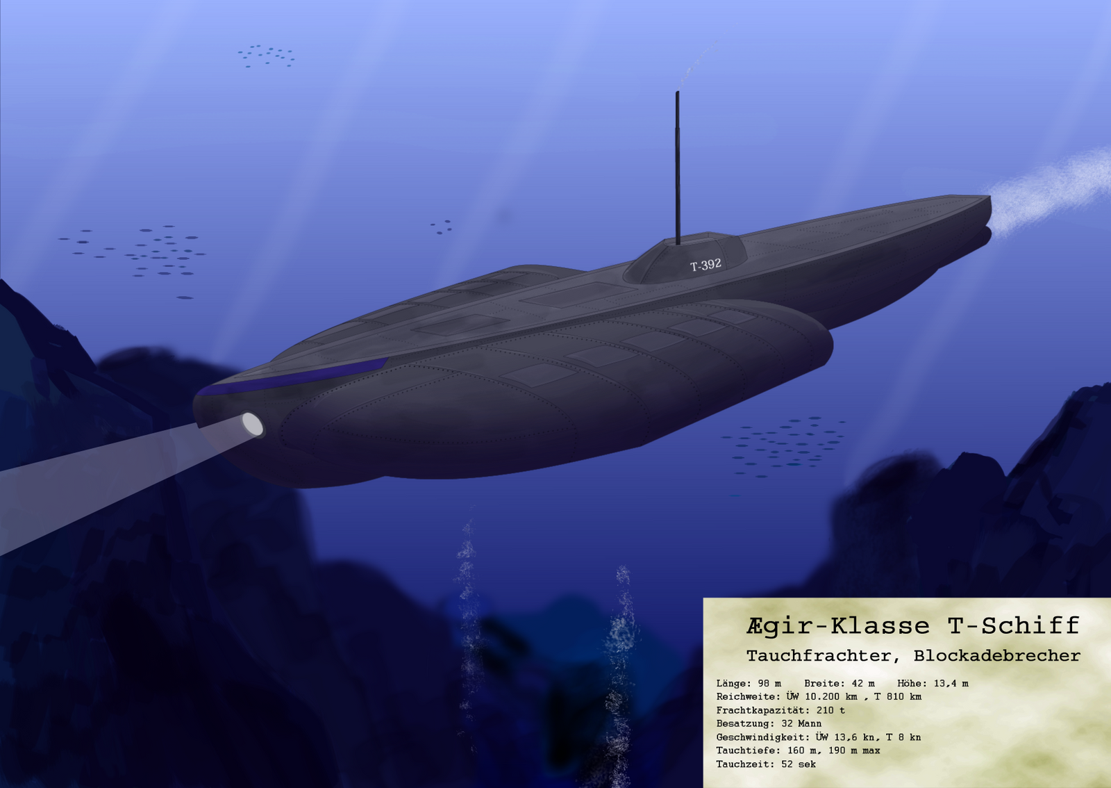 Dive-Ship Aegir-Class by Sapiento