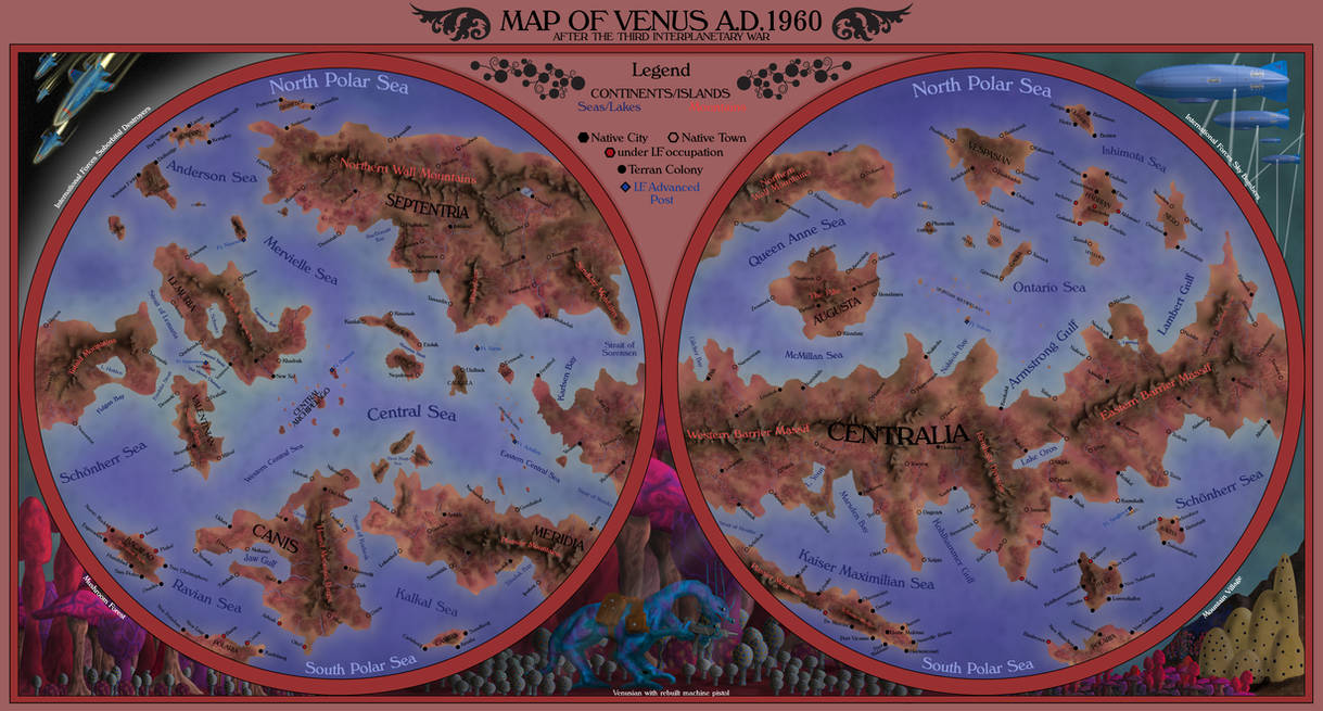 Map of Venus by Sapiento on DeviantArt Map Of Venus on