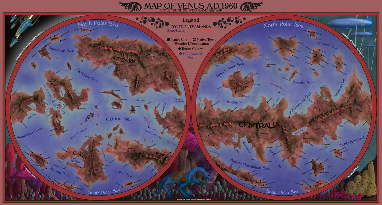 Map of Venus by Sapiento