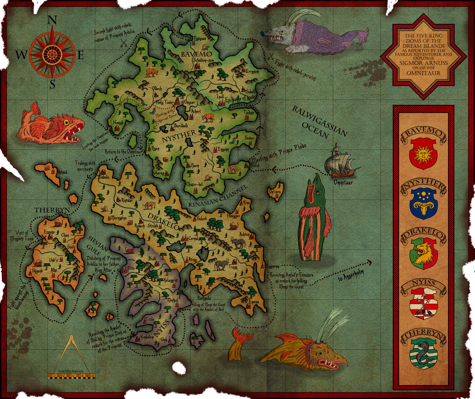 Good Site Map Examples: Freelance Artist/cartographer Available For Commissions