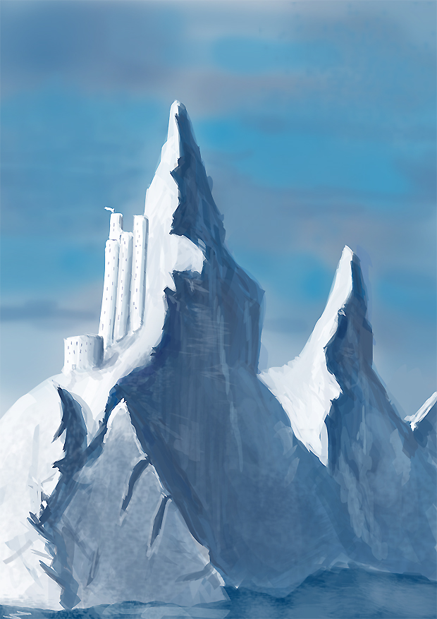 Ice fortress by Sapiento