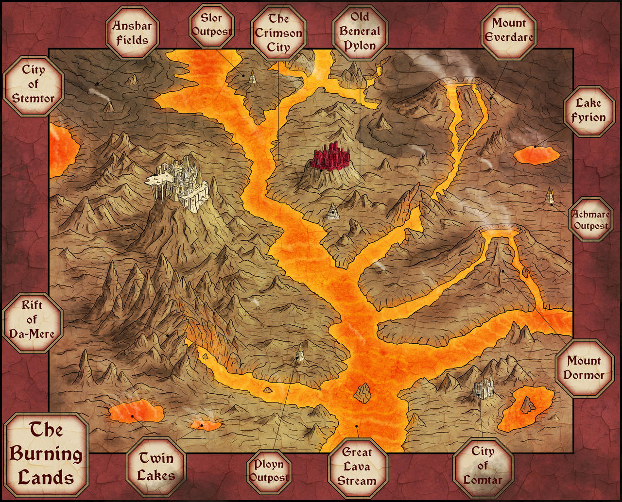 The Burning Lands by Sapiento