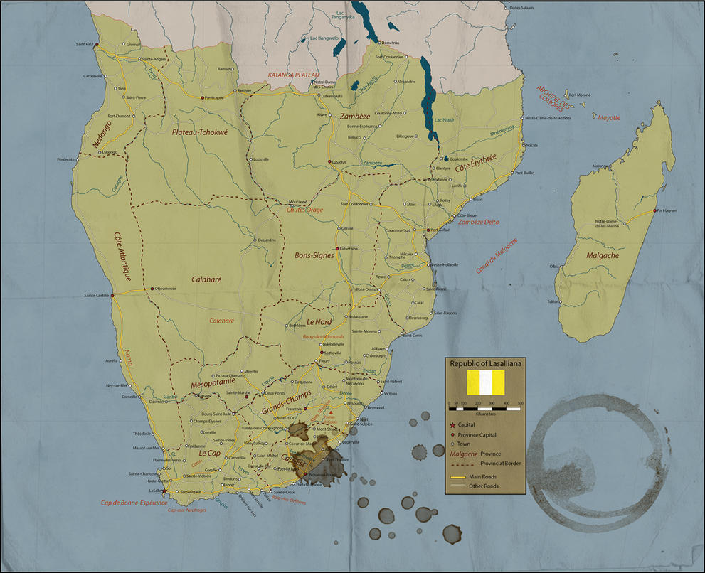 Republic of Lasalliana - Road Map by Sapiento