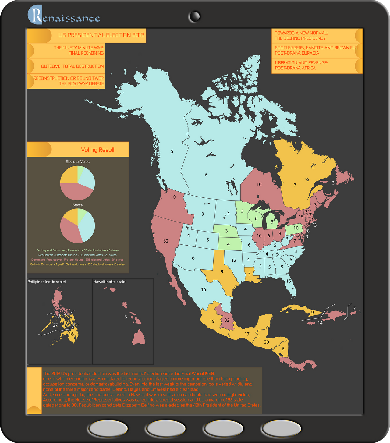 US Presidential Election AH Map By Sapiento On DeviantArt - Us election history map