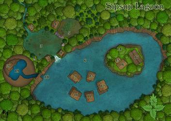 Sipsup Lagoon by Sapiento