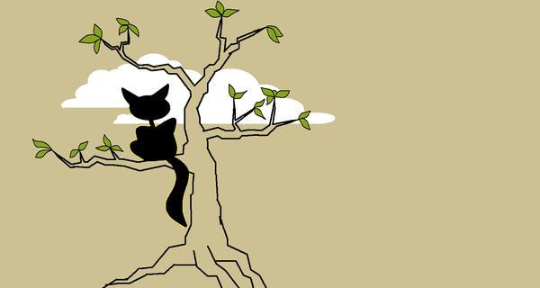 cat in tree by dekade-z