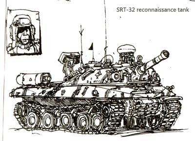 SRT-32 reconnaissance tank by azgcz
