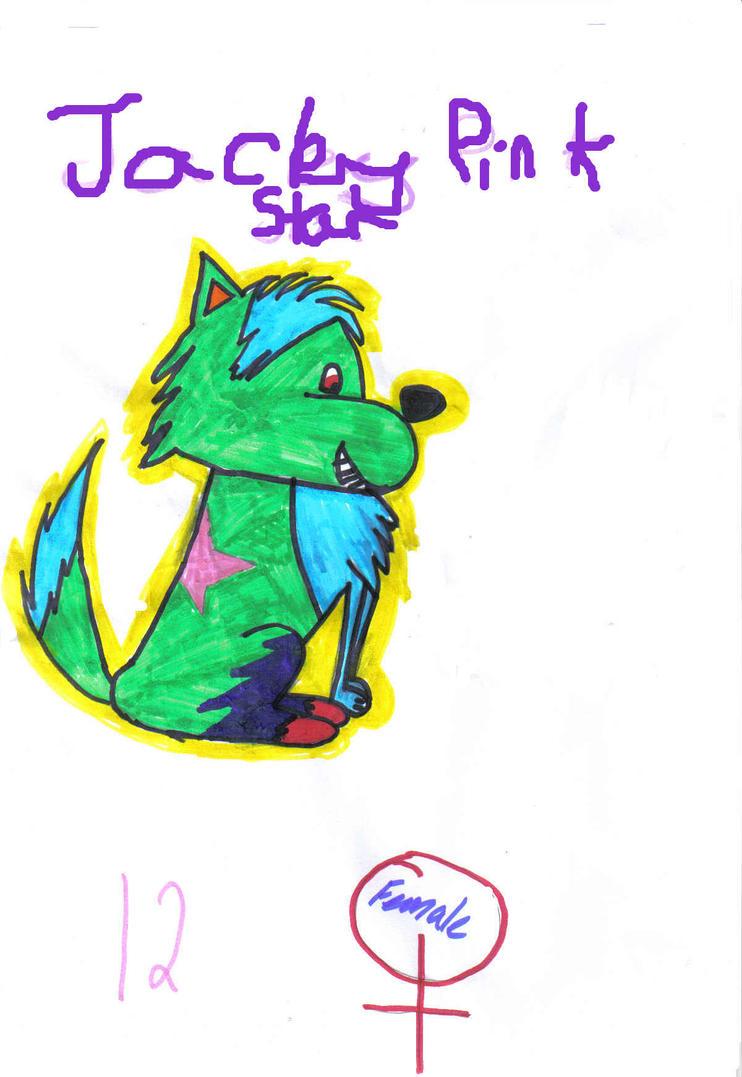 jacky pink star by jadethescissorgirl