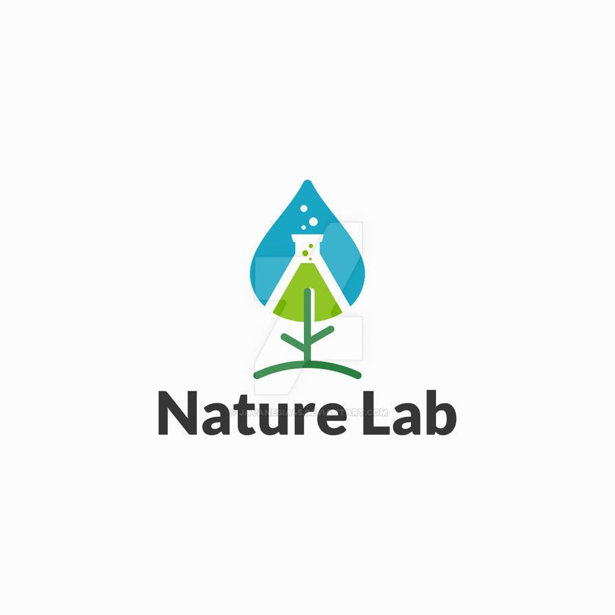 Organic Green Bio Lab Logo Vector Icon: Modern Nature Lab Logo Template Designs By Javanesia45 On