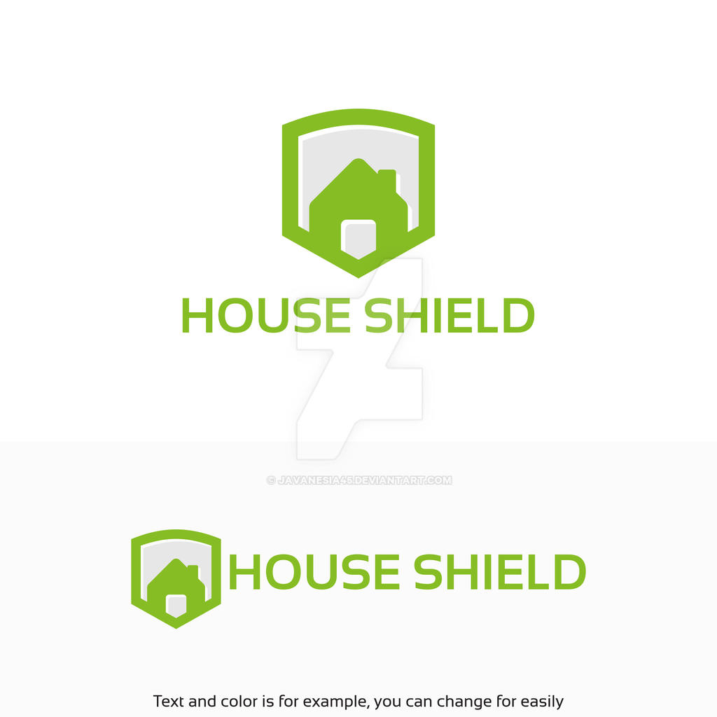 Simple house shield logo designs vector illustrat by for Minimalist house logo