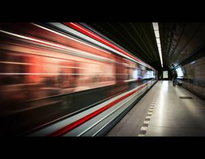 In the Prague Metro