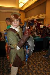 Link with a gun