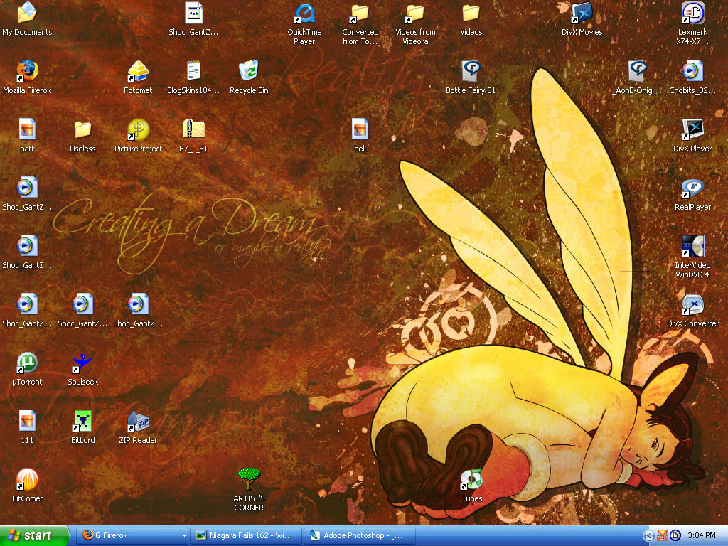Desktop: Creating a Dream by Fairy2006