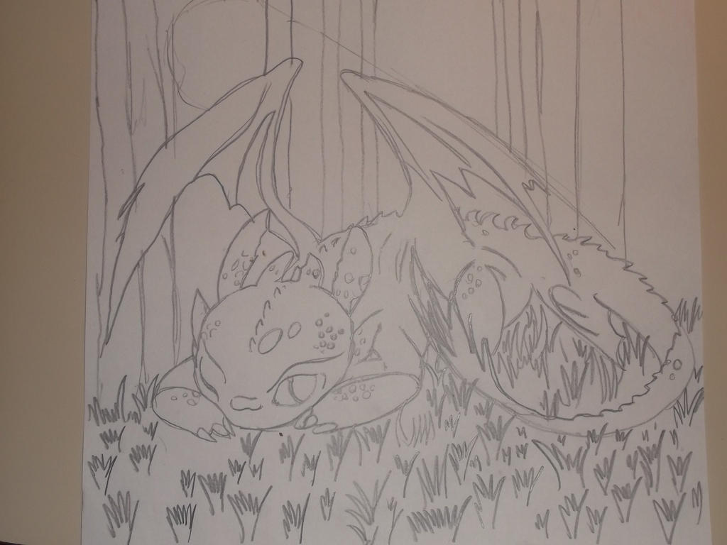 how to draw how to train your dragon toothless