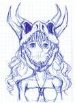 Dino Skull Girl by Cat-Morrison