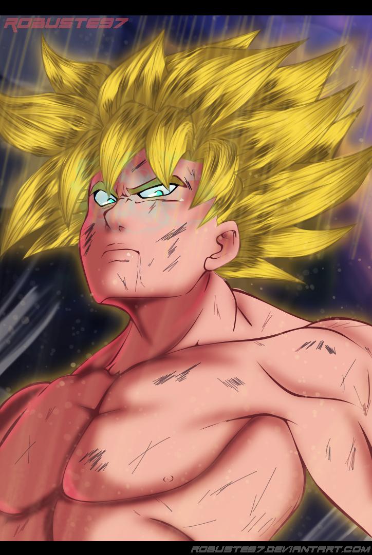 The King of saiyans Goku by Robuste97