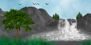 PS Brushes - Waterfall View