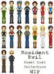 Resident Evil Pixel Dolls WIP