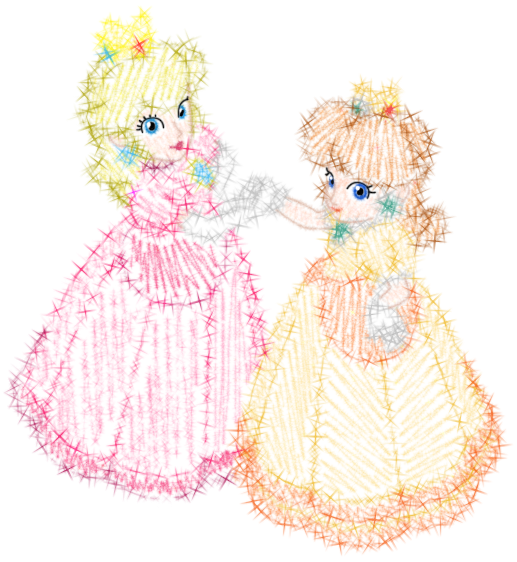 Peach + Daisy - Stylized by mediaklepto