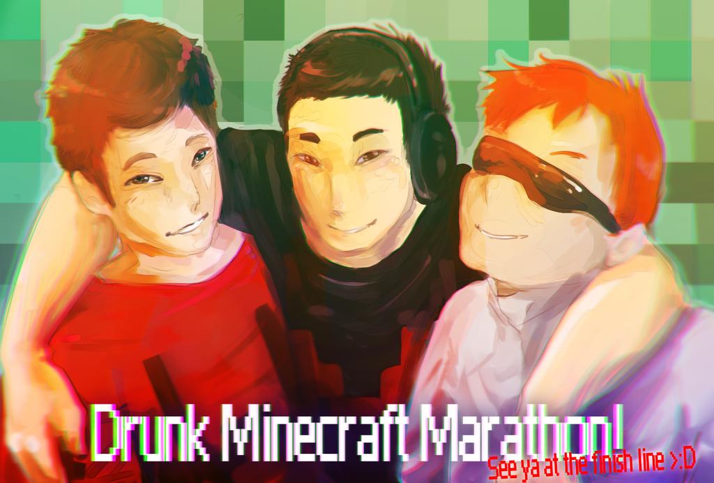 .:Drunk Minecraft MARATHON:. by StereoJester