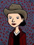 Jane with Gray Felt Hat