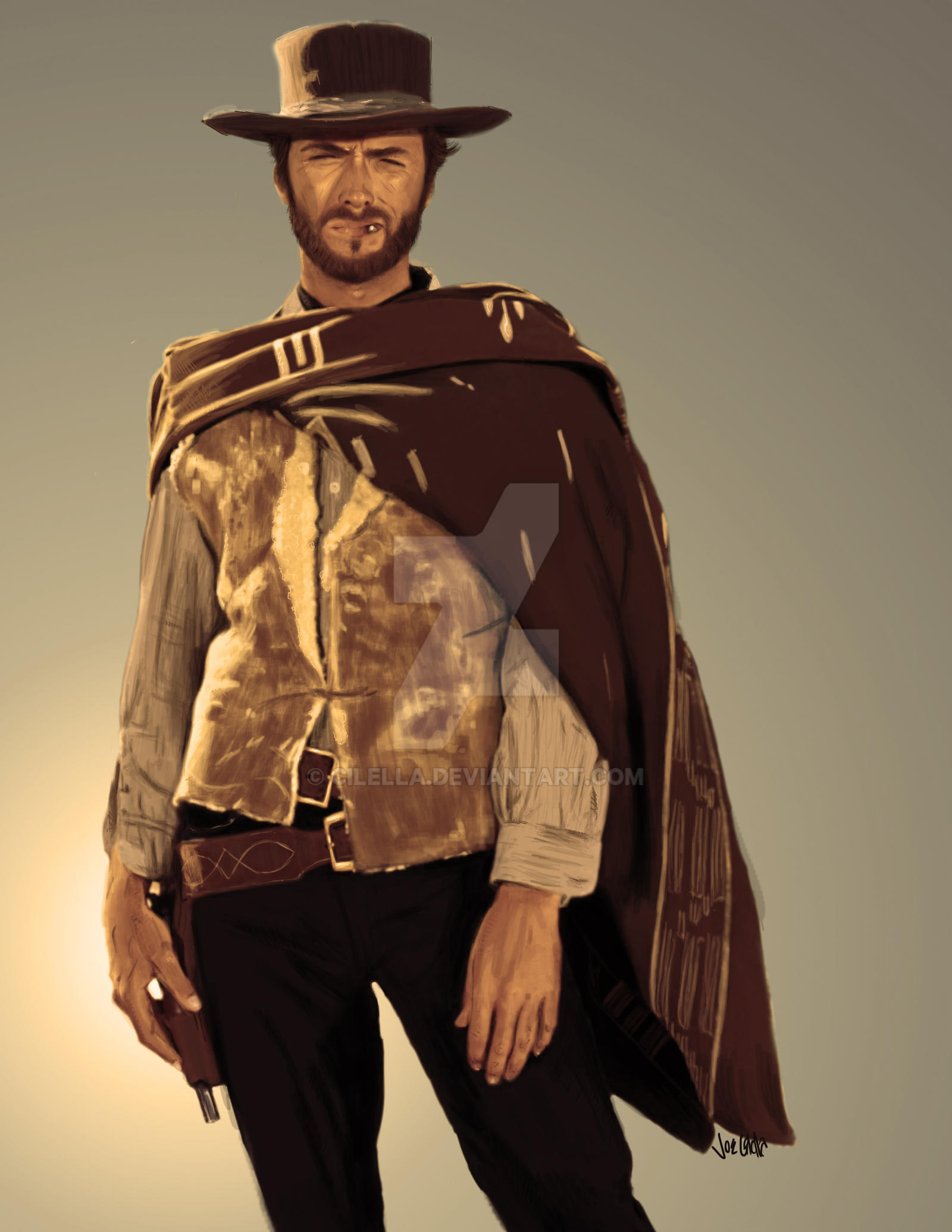 How High To Hang Paintings Clint Eastwood Cowboy Art