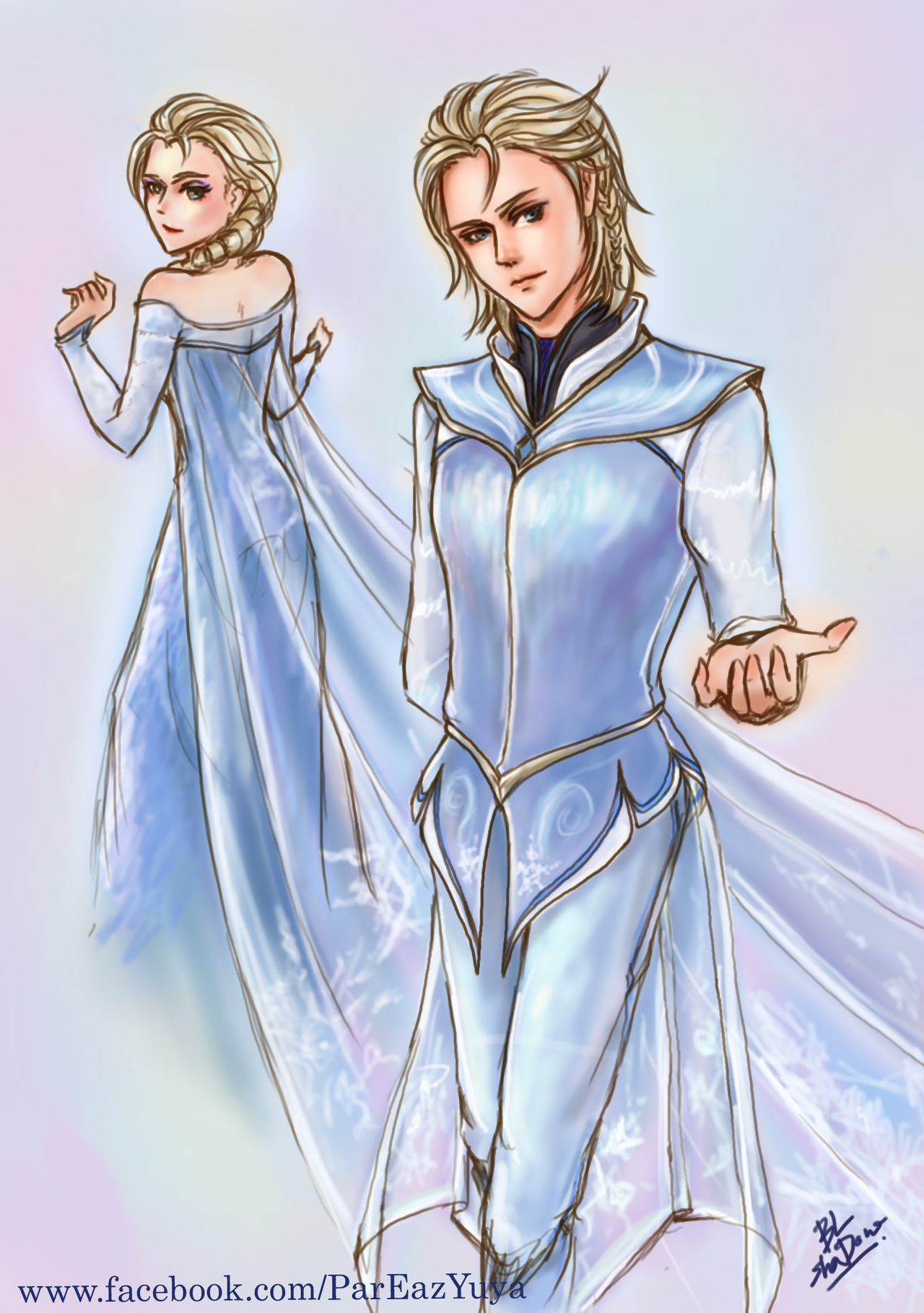 Elsa [FROZEN] Male version by palitapare