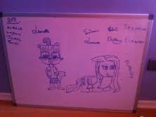 My whiteboard in my room by AlaskahAndDaMunks