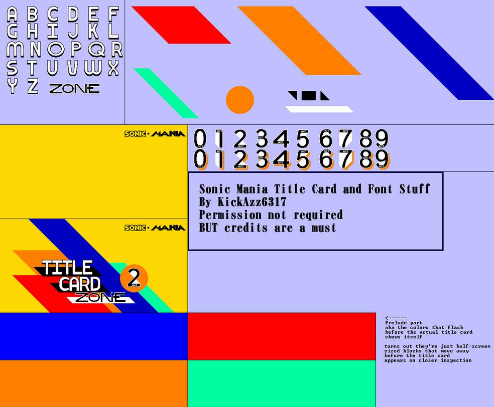 Sonic Mania Title Card Sprites V1 1 by KickAzzGaming on DeviantArt