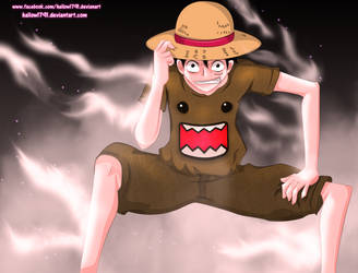 Luffy with domo (2nd Gear) by hallow1791