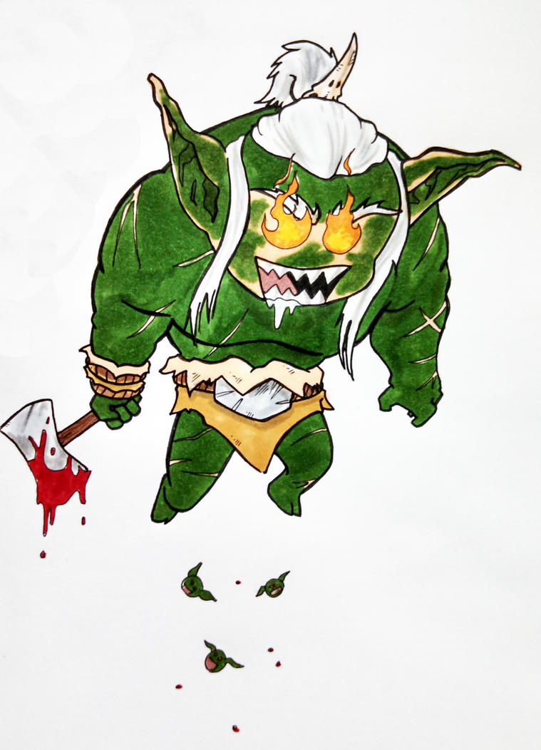 Chibi Maglubiyet god of the goblinoids by jestersforce