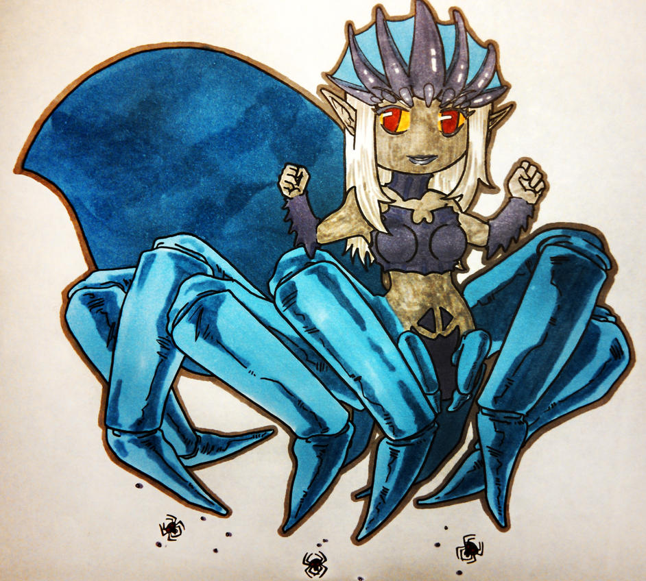 Chibi Lolth concept 1 by jestersforce
