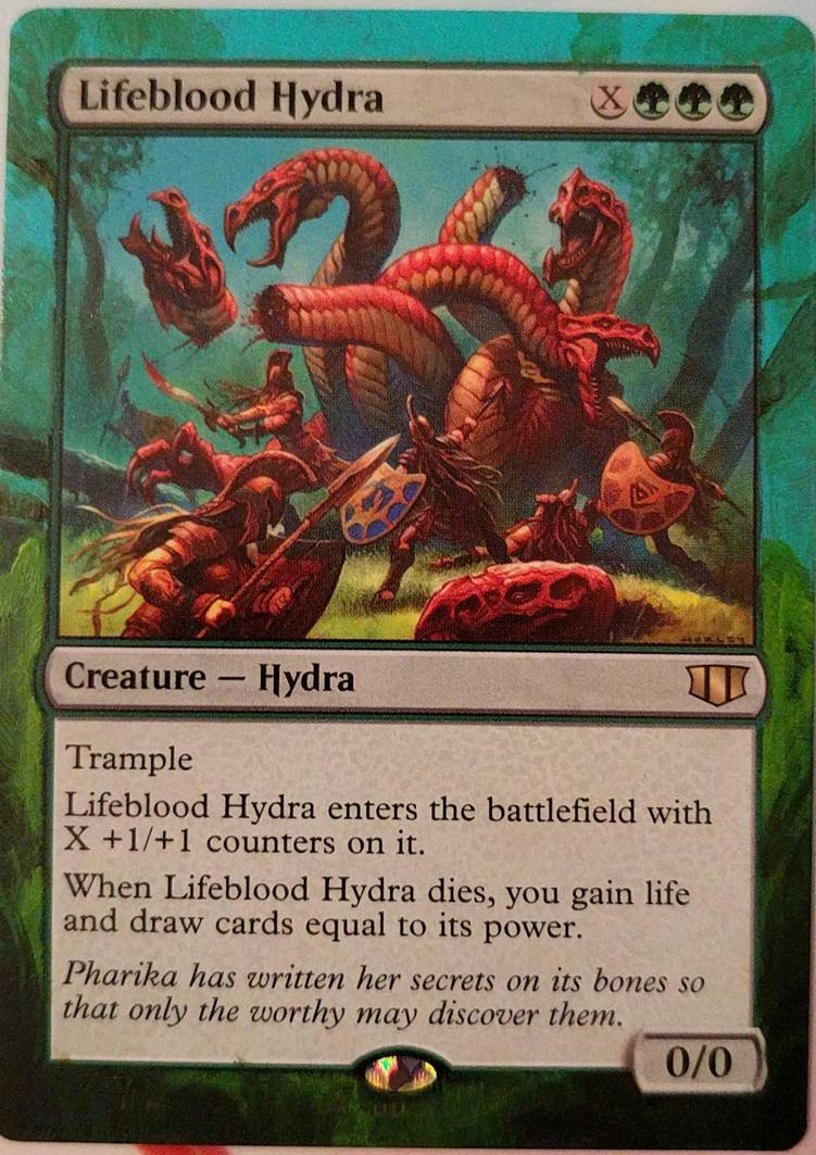 Lifeblood Hydra altered art border by jestersforce