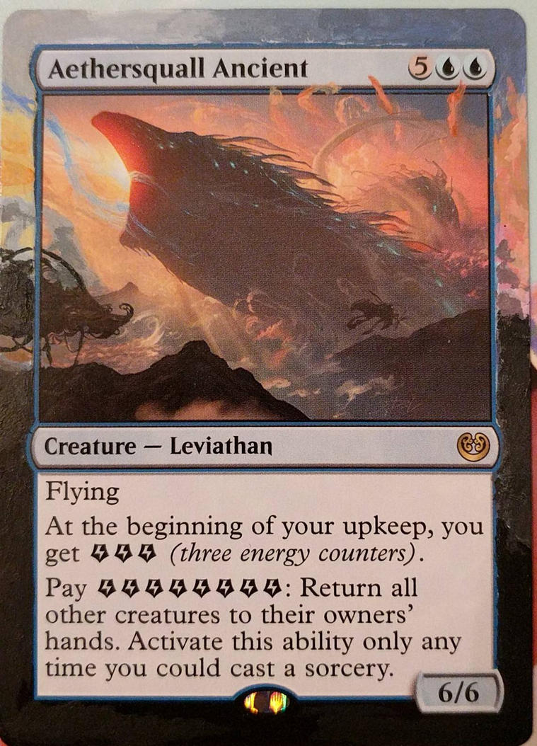 Aetherspell Leviathan altered art border by jestersforce