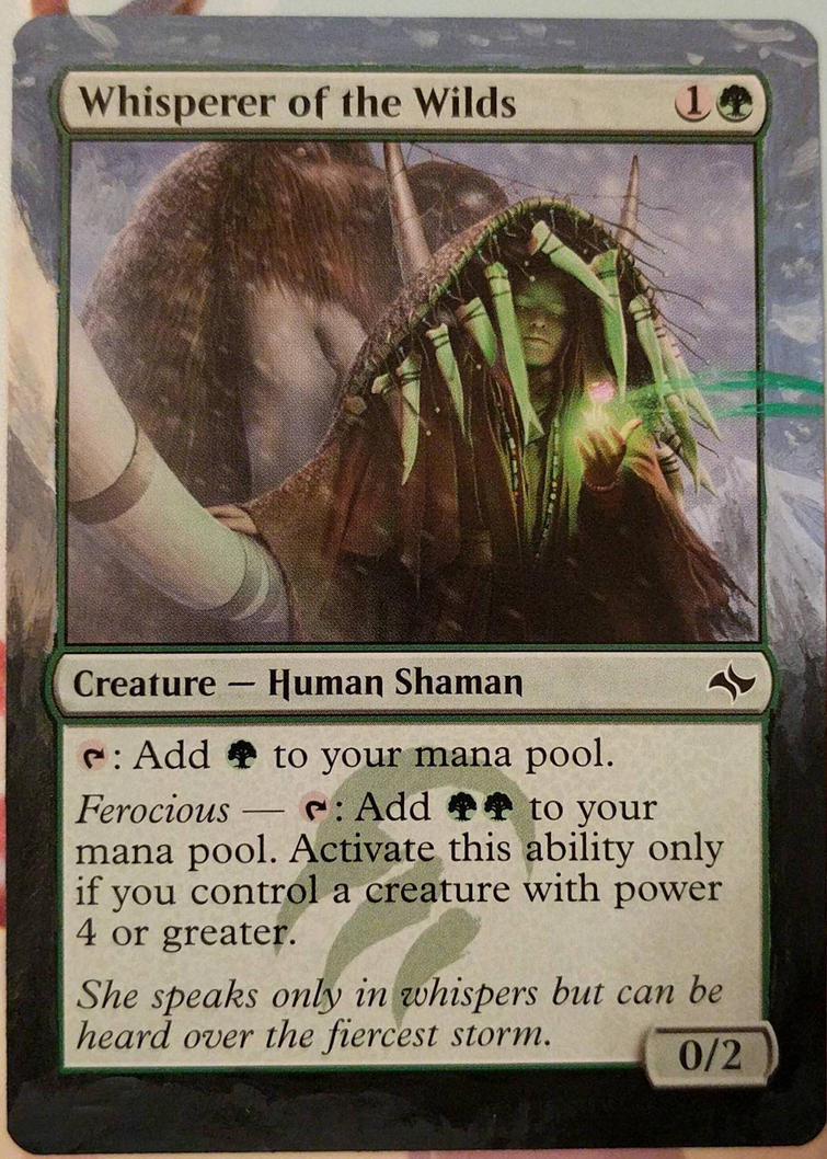 Whisperer of the Wilds altered art border by jestersforce