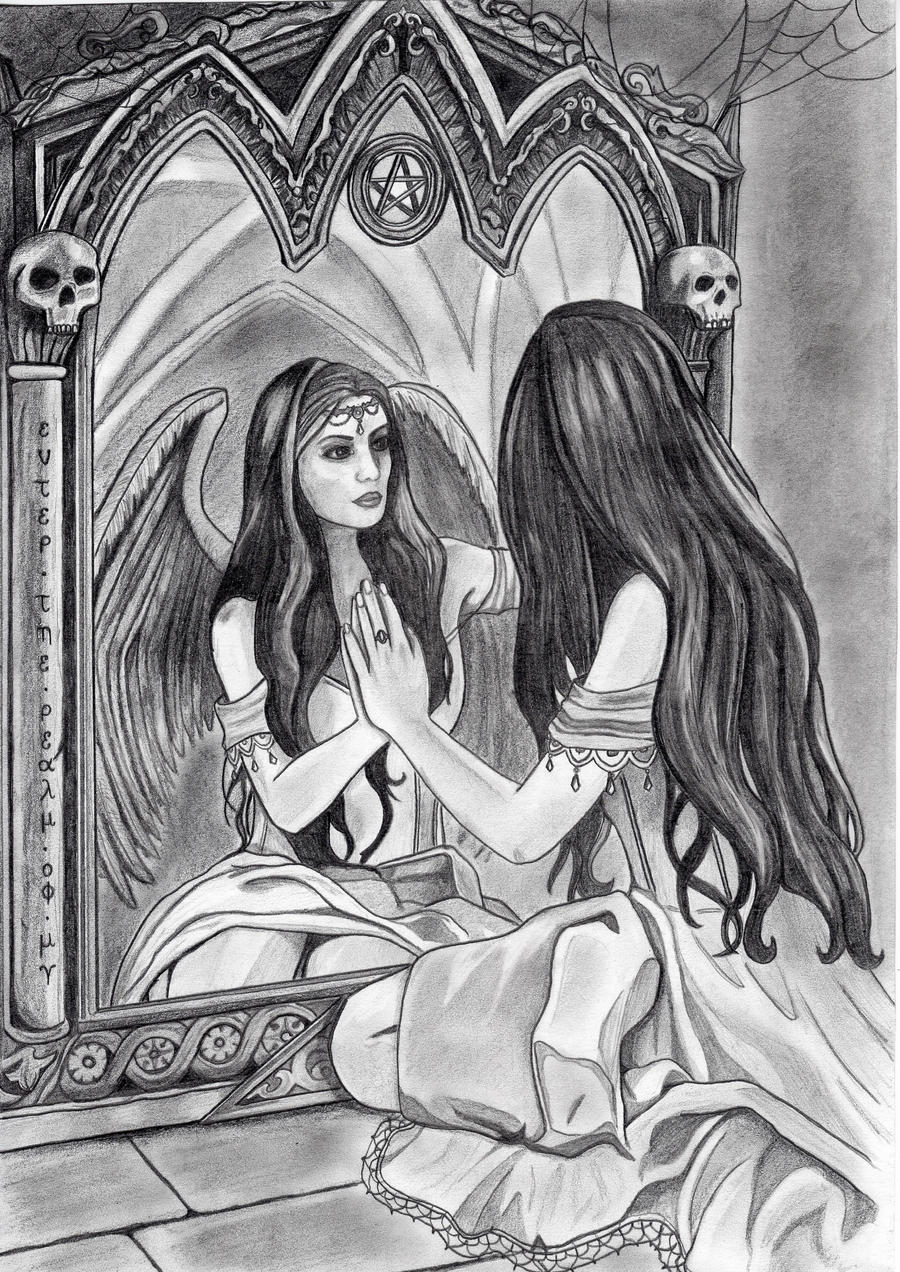Magic mirror by emicathe on deviantart for Mirror drawing