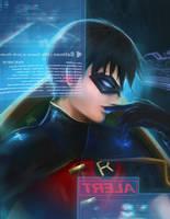 The Boy Wonder in Bat-cave by pialoenna