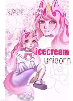 Open~ Adopt Auction #5 Ice-cream Unicorn