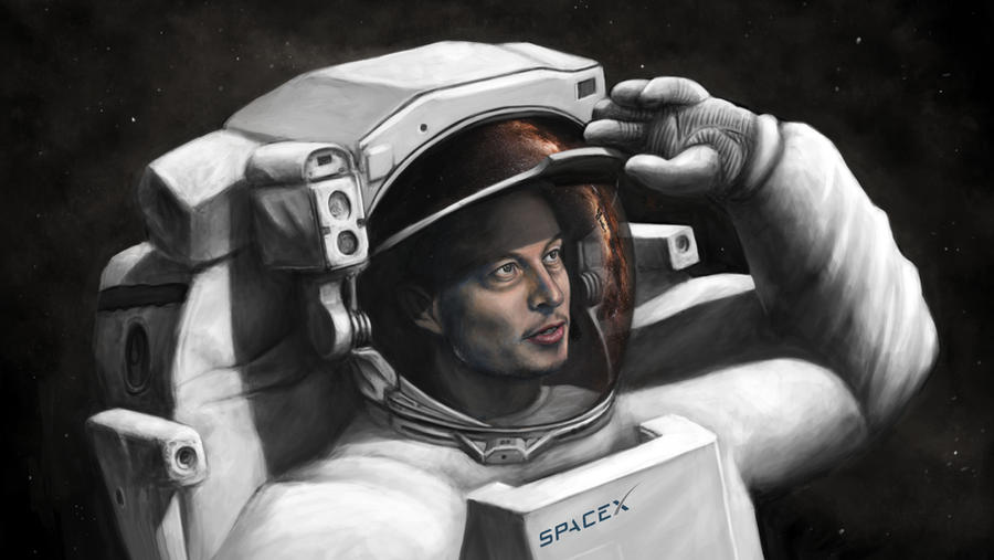 Elon Musk Portrait by Lewis3222