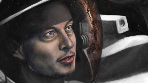 Elon Musk Portrait - SpaceX