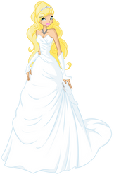 AT: Kohana's Wedding Dress by Saku28