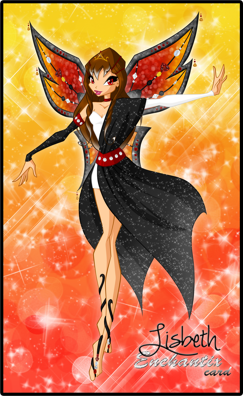 Lisbeth's enchantix card by Saku28
