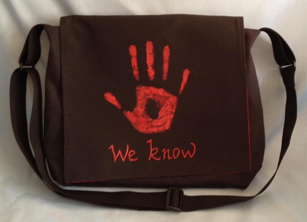 Dark Brotherhood Messenger Bag by Tirrivee