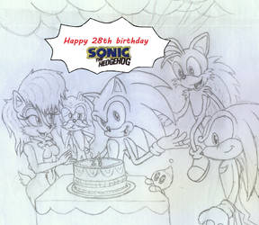 Sonic's birthday by ShanahaT