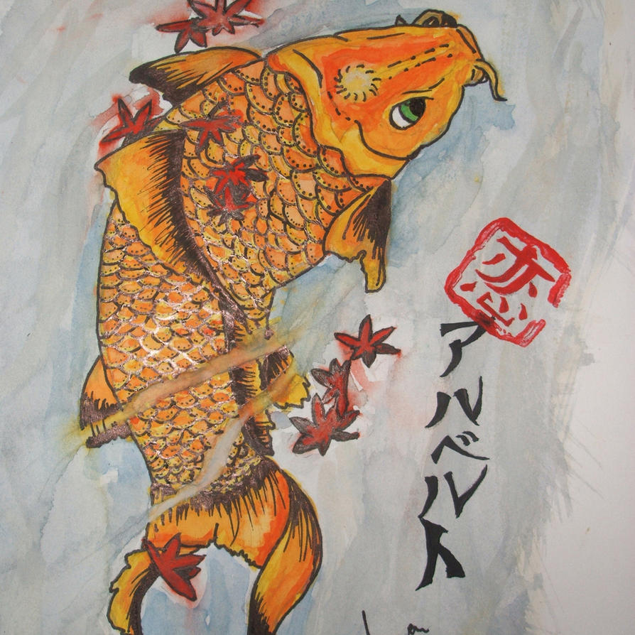 Koi fish watercolor by koi top on deviantart for Koi japanese art
