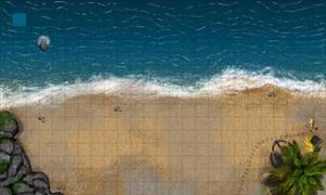 BEACH BATTLEMAP GRID 25x15