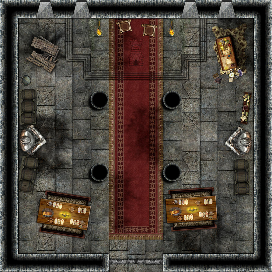Castle Hall Battlemap 25x25 By Artsbyjapao On Deviantart