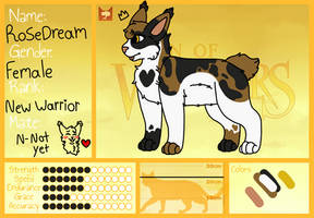 (UPDATED) RoseDream refrence sheet by RaveGalaxy