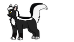 Skunkpaw transparent by RaveGalaxy