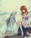 anohana:Meiko and Naruko